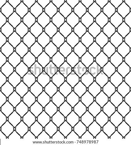 Fishnet Seamless Pattern Vector Illustration