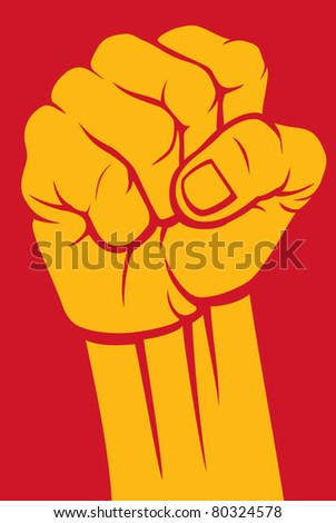 fist - stock vector