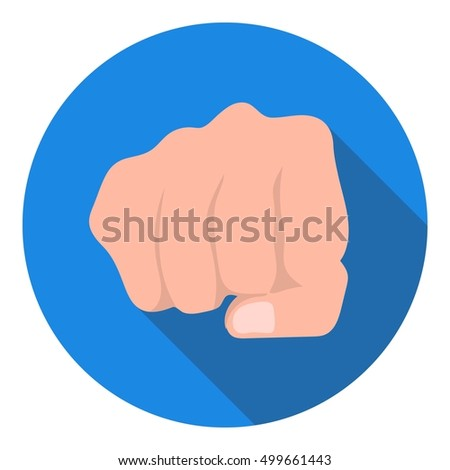 fist bump icon in flat style