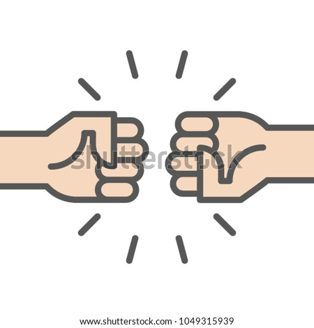 fist bump icon two fists