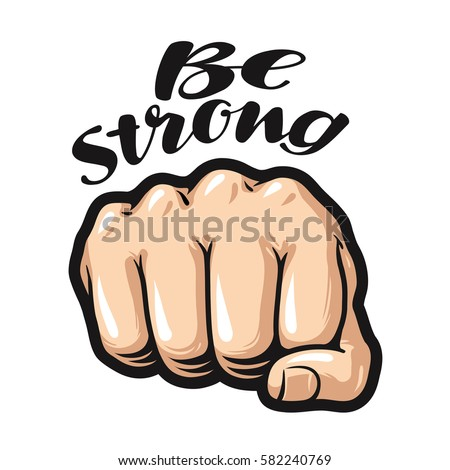 fist cartoon  symbol be strong