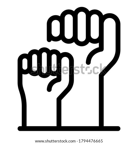 Fist empowerment icon. Outline fist empowerment vector icon for web design isolated on white background
