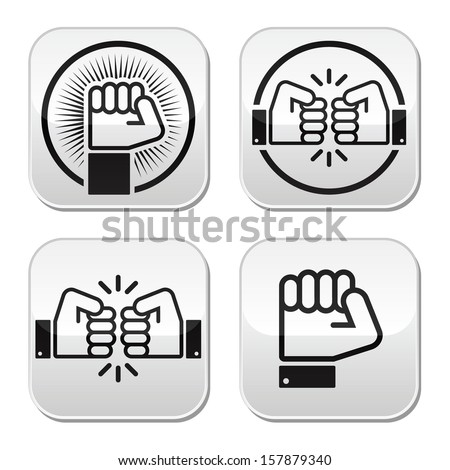 fist  fist bump vector buttons