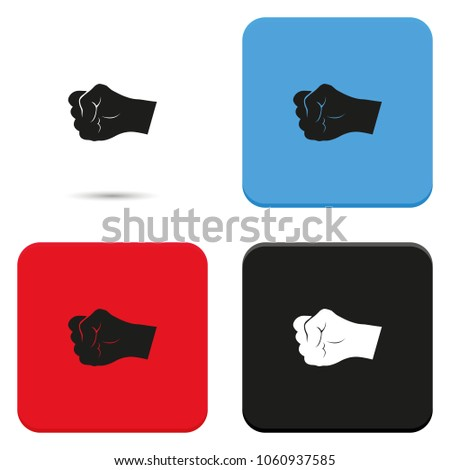 Fist flat vector icon.