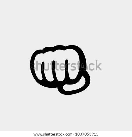 Fist icon. Vector fist. Fist illustration