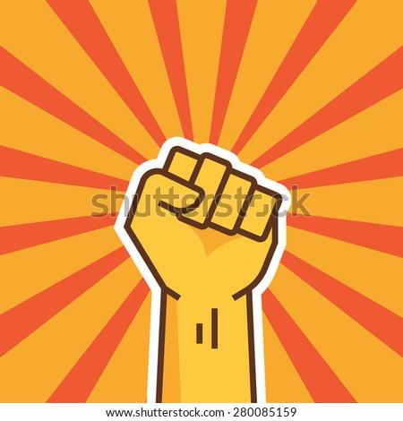 fist of revolution human hand