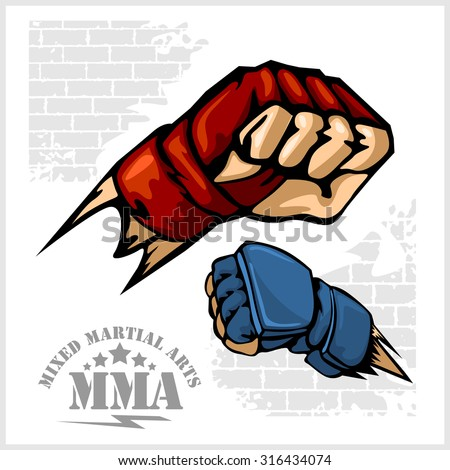 fist punch   mma mixed martial