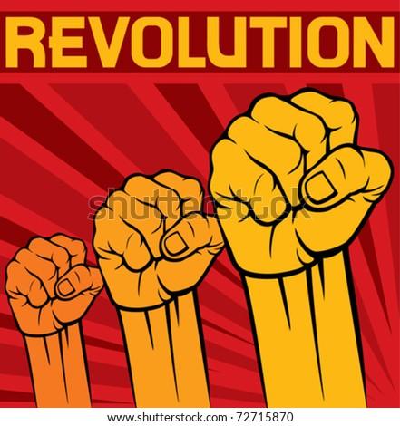 fist - symbol of revolution poster
