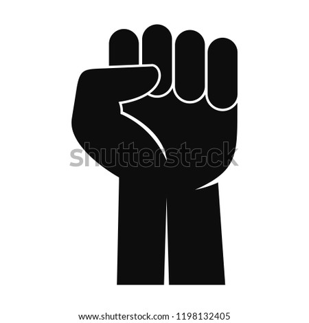 Fist up power logo icon. Simple illustration of fist up power logo vector icon for web design isolated on white background