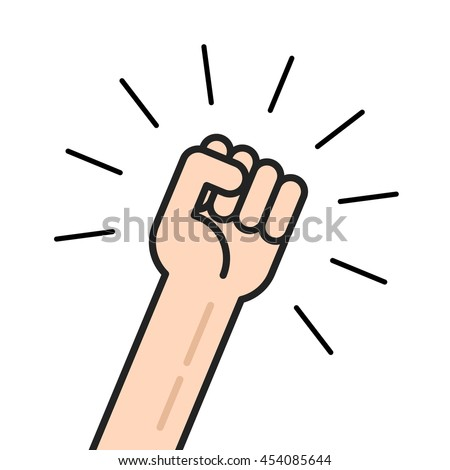 fist vector icon isolated on