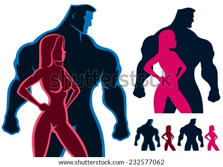 fit couple silhouettes in 4