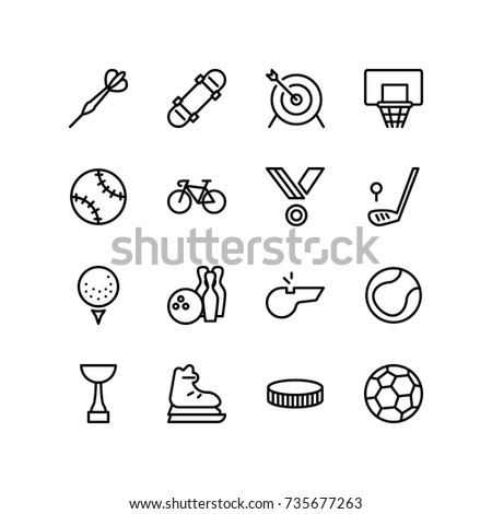 Fitness and sport concept icons