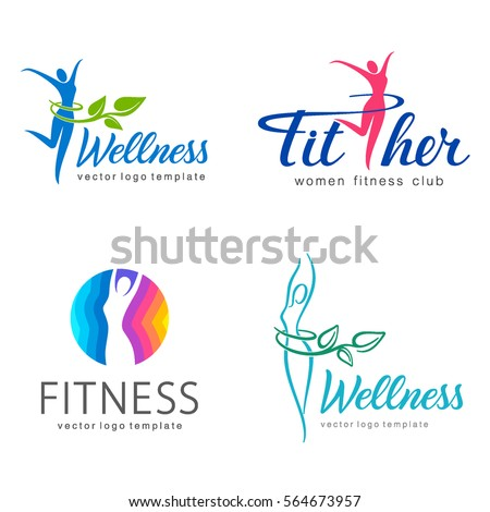 fitness and wellness vector...