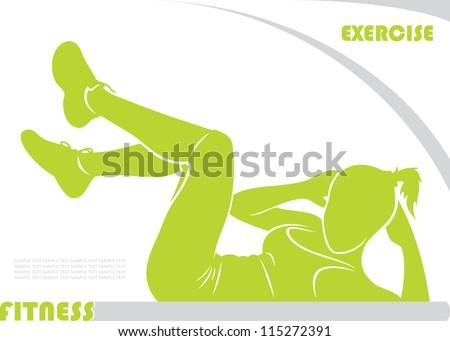 Fitness background - vector illustration