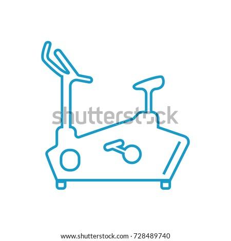 Fitness Bike icon vector  Foto stock ©