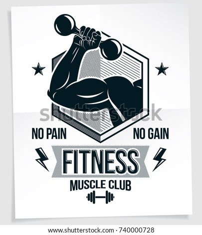 fitness club advertising poster
