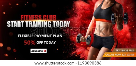 fitness club banner ads with a