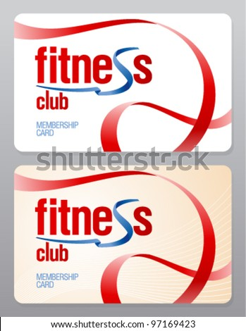 Fitness club membership card design template.