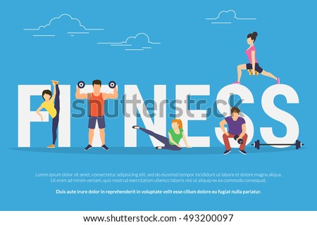 fitness concept illustration of