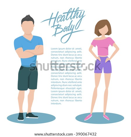 fitness couple with handwritten