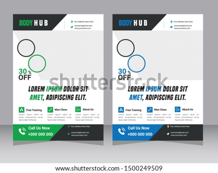 Fitness Flyer / Gym Flyer, Fitness & Gym - Sports Business Flyer, Fitness Gym Flyer Template