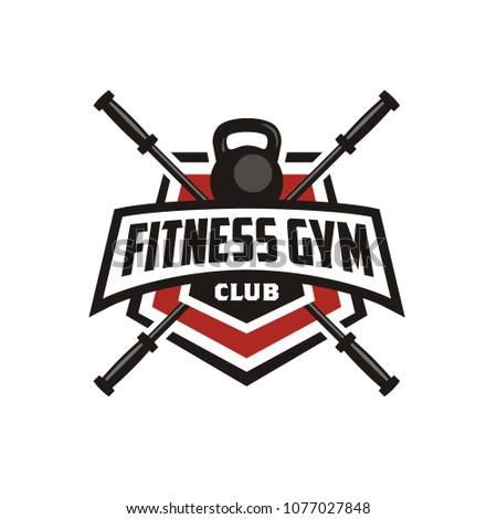 fitness   gym badge emblem logo