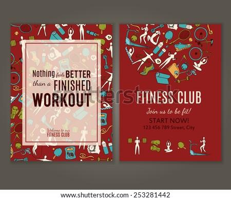 fitness gym flyer fitness