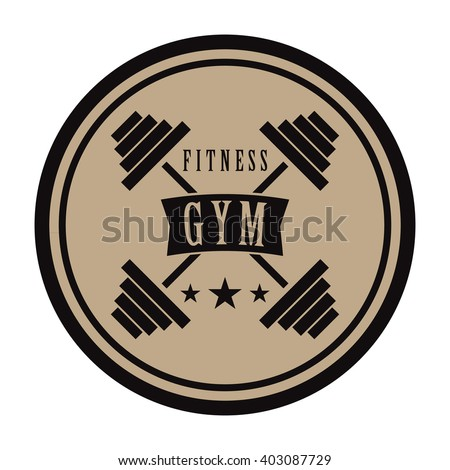 fitness gym logo with cross
