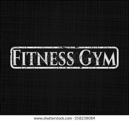 Fitness Gym on blackboard