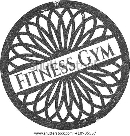 Fitness Gym pencil emblem