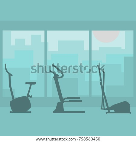 fitness gym with sports