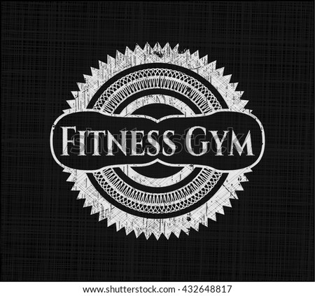 Fitness Gym written on a blackboard