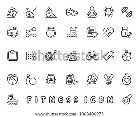fitness hand drawn icon design illustration, line style icon, designed for app and web