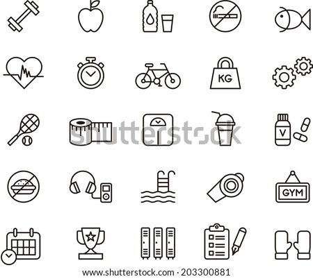 fitness   health care icons