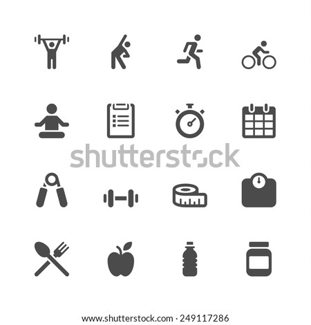 Fitness icons - Shutterstock ID 249117286
