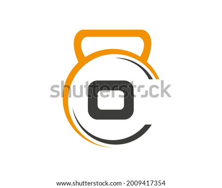 Fitness logo with O letter concept. Gym logo with O letter.  Foto stock ©