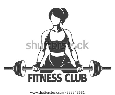 fitness or gym center emblem