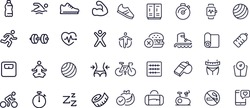 Fitness - outline icon  vector design black and white