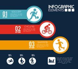 fitness pattern over blue background vector illustration