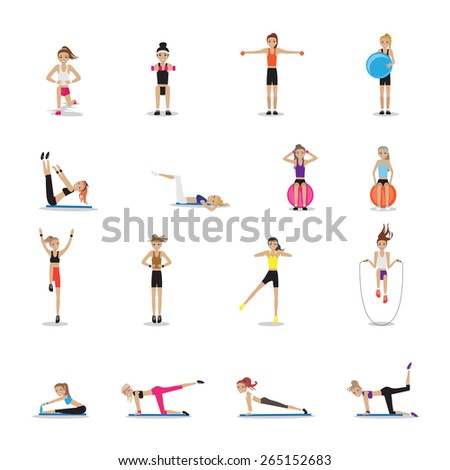 fitness people workouts set