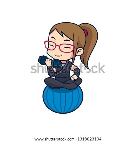 Fitness Sensei / Fitness Trainer / Gym Trainer / Ninja Trainer Girl 2