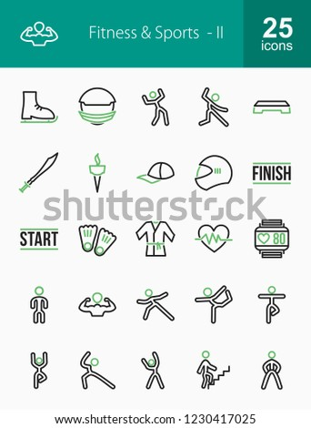 Fitness & Sports Line Icons