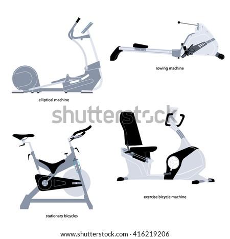 stationary rowing machine