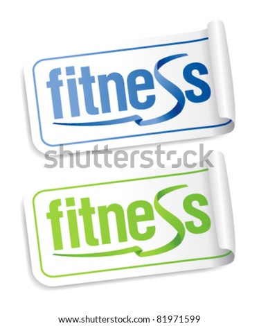 Fitness stickers set.