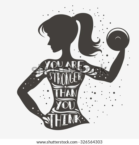 fitness typographic poster you