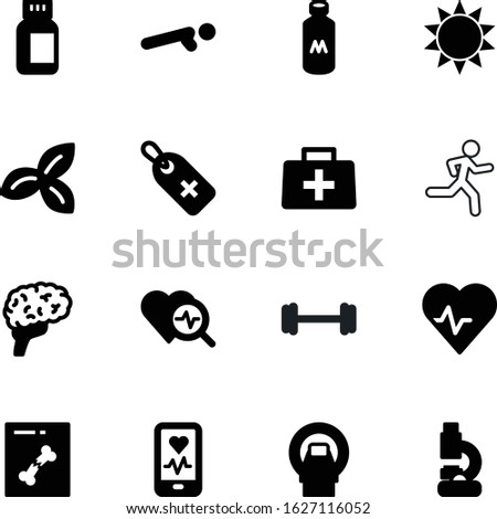 fitness vector icon set such as