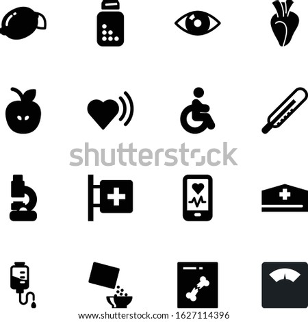 fitness vector icon set such as: snack, accessible, responsive, delicious, cold, surgery, skeleton, control, drop, liquid, citrus, nutritious, laboratory, best, yellow, first, access, beat, pharmacy