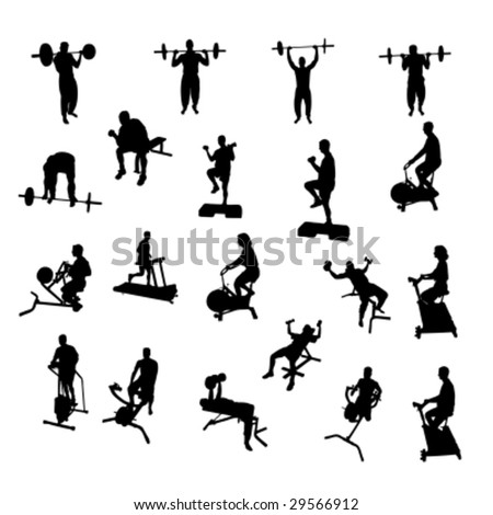 Fitness Vector Silhouettes