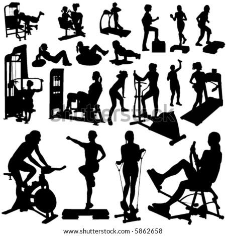fitness women vector