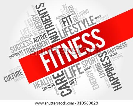 fitness word cloud  health